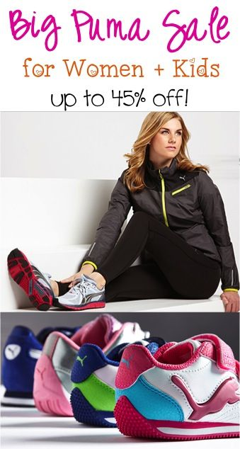 BIG Puma Sale for Women + Kids ~ up to 45% off!! #shoes