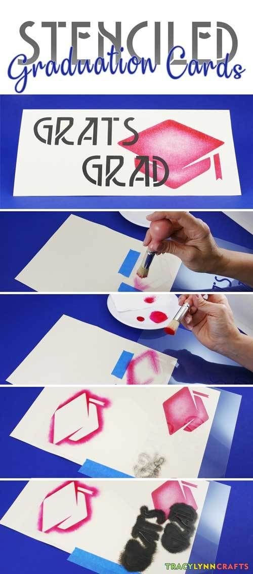 Stenciled Graduation Cards You Can Make Yourself Pinterest