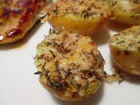 En verden af smag!: Gratinerede Kartofler med Timian (Recipe in Danish)