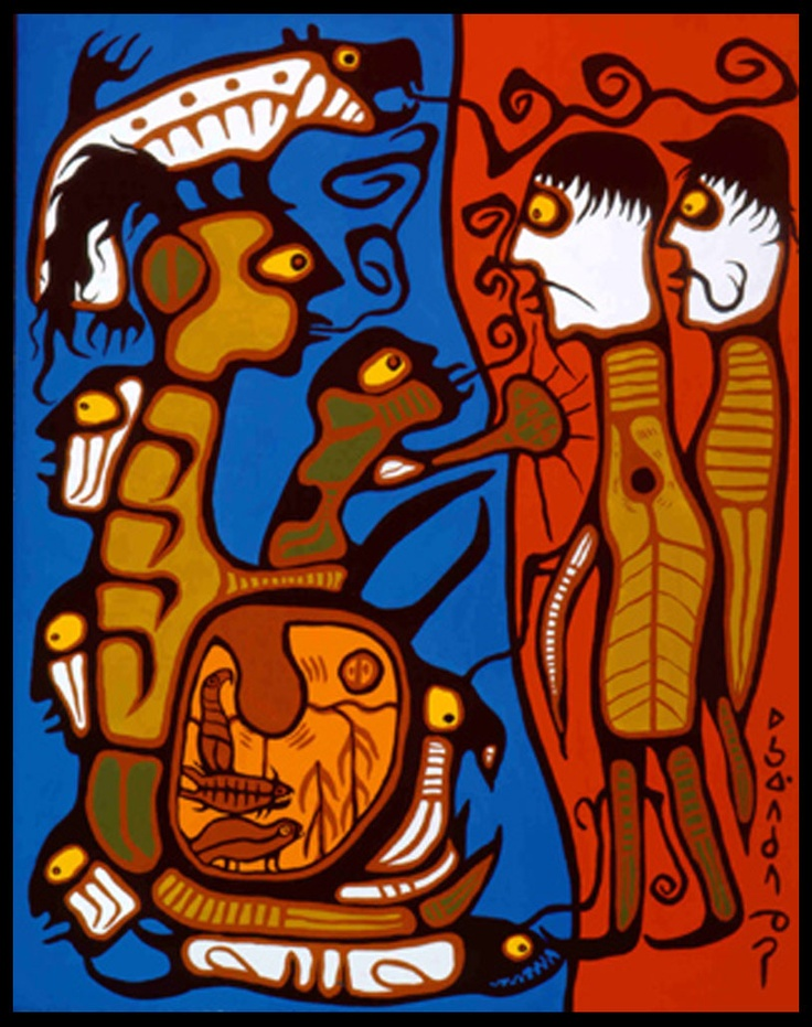 Norval Morrisseau Facts, Articles & Art: Jul 3, 2010
