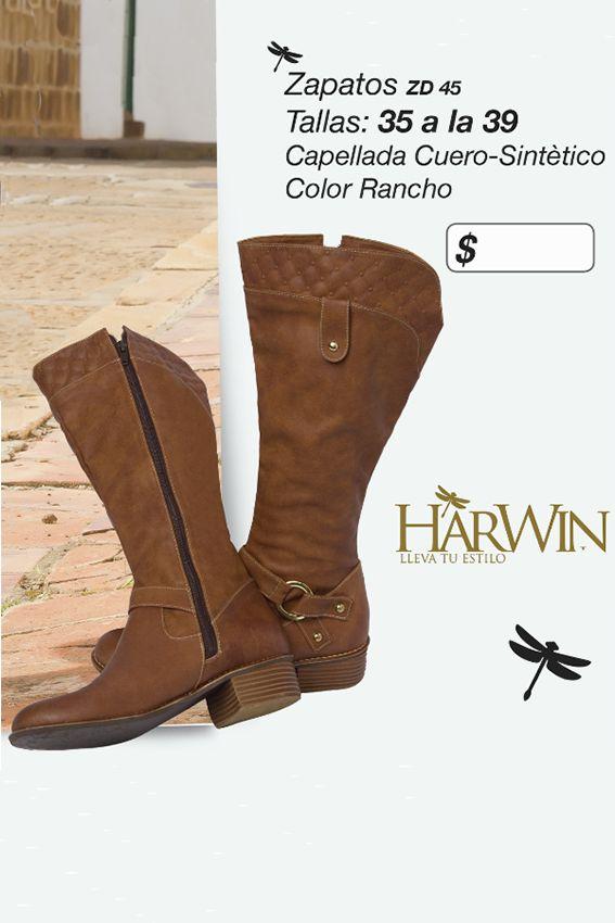 Cómodas botas en cuero sintético Referenia: ZD45 Tallas: 35 a la 39 Color: Rancho Precio: $115.000