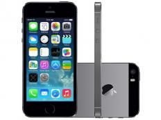 "iPhone 5S Apple 32GB Cinza Espacial Tela 4"" Retina - Câmera 8MP iOS 7 Proc. M7 Touch ID"