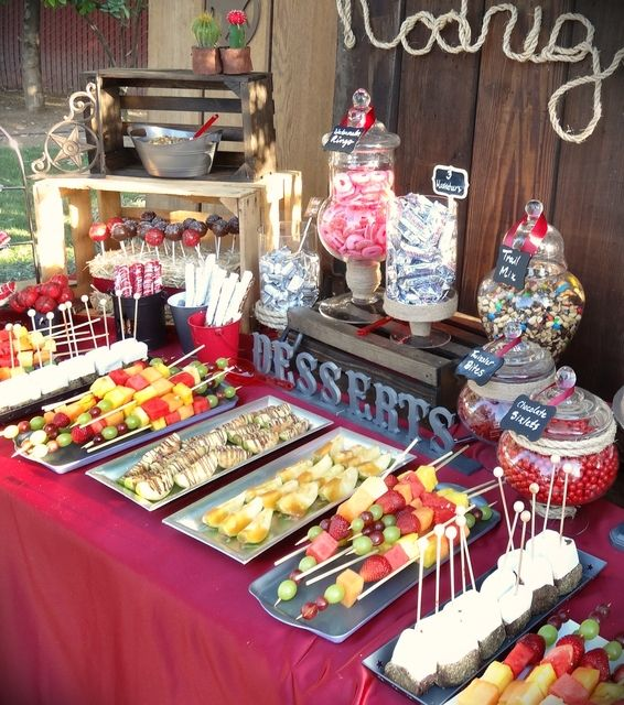 Cowboy Birthday Party dessert table!  See more party ideas at CatchMyParty.com!