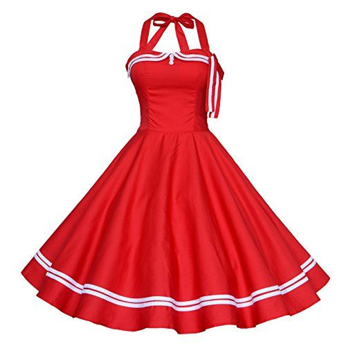 Maggie Tang Women's 1950s Halter Vintage Rockabilly Dress Size L Color Red Maggie Tang http://www.amazon.com/dp/B00K5NVHWC/ref=cm_sw_r_pi_dp_d5blwb022BTG9