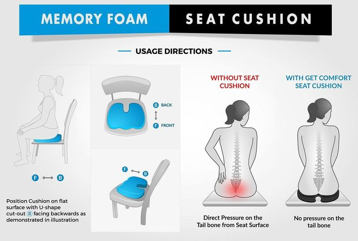 Coccyx Cushion Pillow for Back Support, Tailbone and Sciatica Pain Relief. Washa #GetComfortGoods
