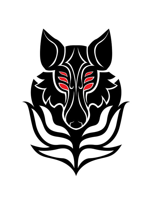 Dread Wolf Sticker By Wuffycerulei Solas Tattoos Dragon Age Wolf