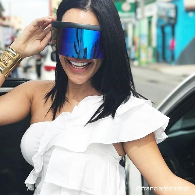 Huge Oversized Mask Cover Shield Visor Style Sunglasses Mirrored Lens Sunscreen