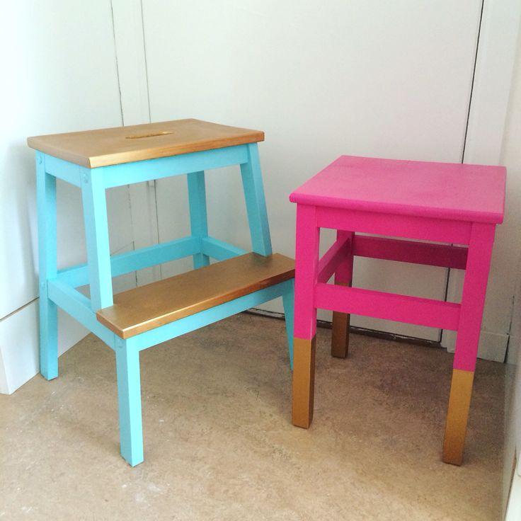 Diy! Cheap Ikea furniture got a remake! furniture diy, colorful furniture