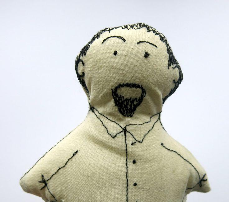 geekery doll -man doll - softie doll -plush doll - cloth art doll - portrait doll -00AK art doll- fabric doll - fathers day gift - uk seller by itsaMessyNest on Etsy