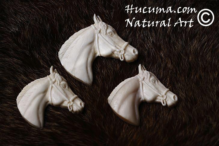 HUCUMA. artesanía en hueso y de diseño.: Caballos en hueso