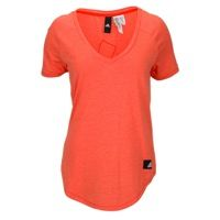 adidas Athletics Sport ID V-Neck T-Shirt - Women's - Orange / Orange