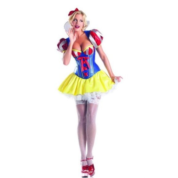 "FLASH SALE✨""Sweetheart Snow"" costume✨WITH SHOES Sexy Snow White costume comes in original packaging; BRAND NEW &never worn. Includes: •Corset with side zipper •lace up back •skirt and white petticoat •bolero *Headband was supposed to be included but my order did not come with one* Be Wicked Other"