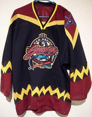 ... new mexico scorpions hockey jersey chl defunct team usa made 9a07159a8e5