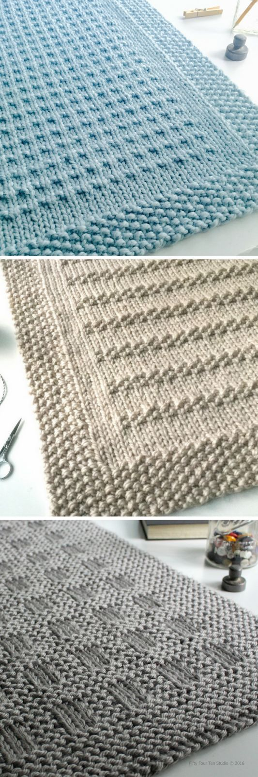 Three easy to knit chunky blan