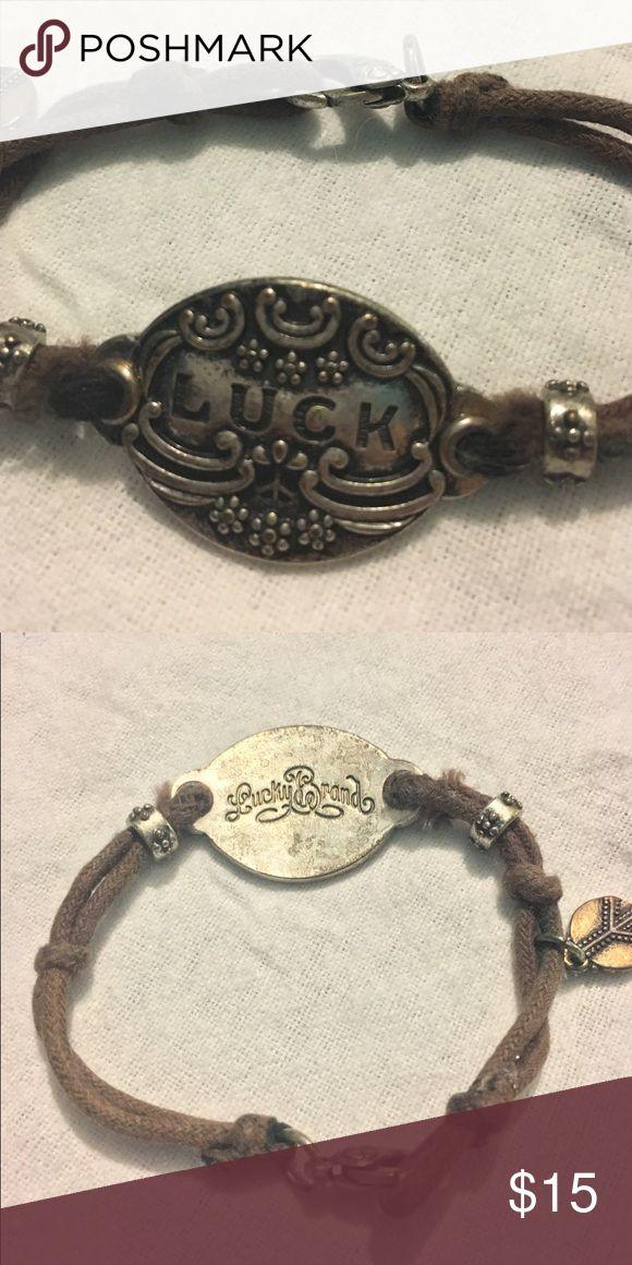 PRICE DROP 💋💋💋 1 DAY only Lucky Brand Bracelet 7 inch Lucky Brand bracelet! Cloth straps that are slightly frayed! Will accept best offer 😍 Lucky Brand Jewelry Bracelets