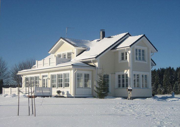 Popular modern Finnish homes. By Kannustalo construction company, founded in the little village of Kannus, Central Ostrobothnia.