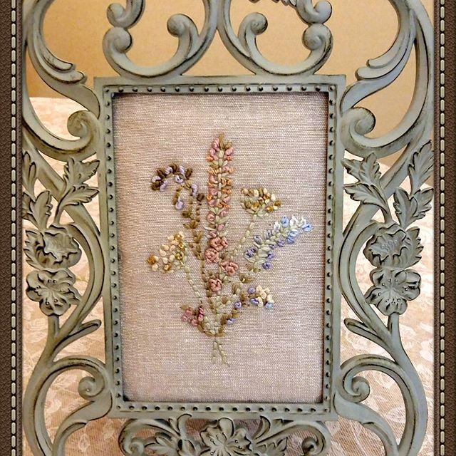 Вышивка#винтаж #ручнаяработа #картинка #подарки #нежность #прованс #длядуши #увлечениедлядуши #цветы