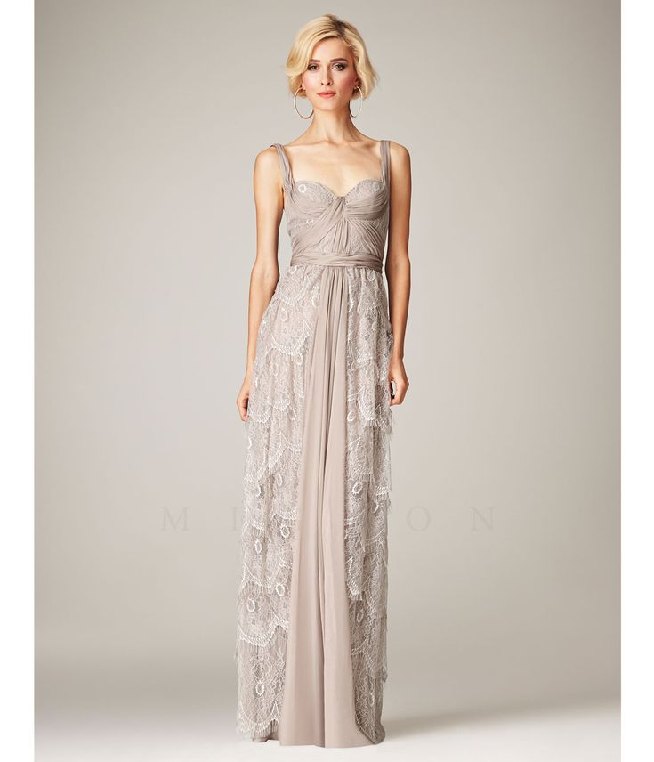 Mignon VM889 Champagne Sweetheart Lace Gathered Gown Prom 2015 $398.00 AT vintagedancer.com