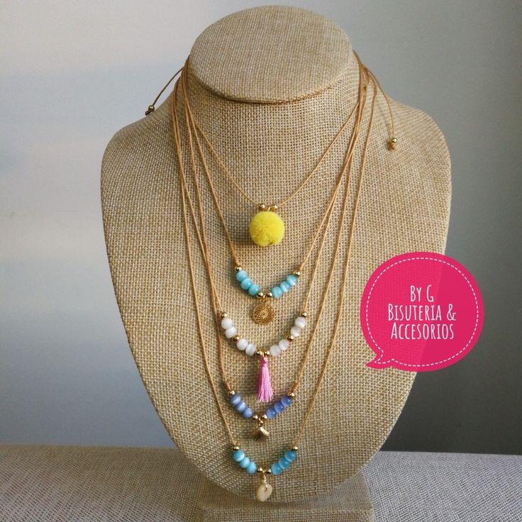 Nos encanta darte la bienvenida!!!  Gargantillas que enamoran  necklace gargantilla pompom.  @ByG_accesorios