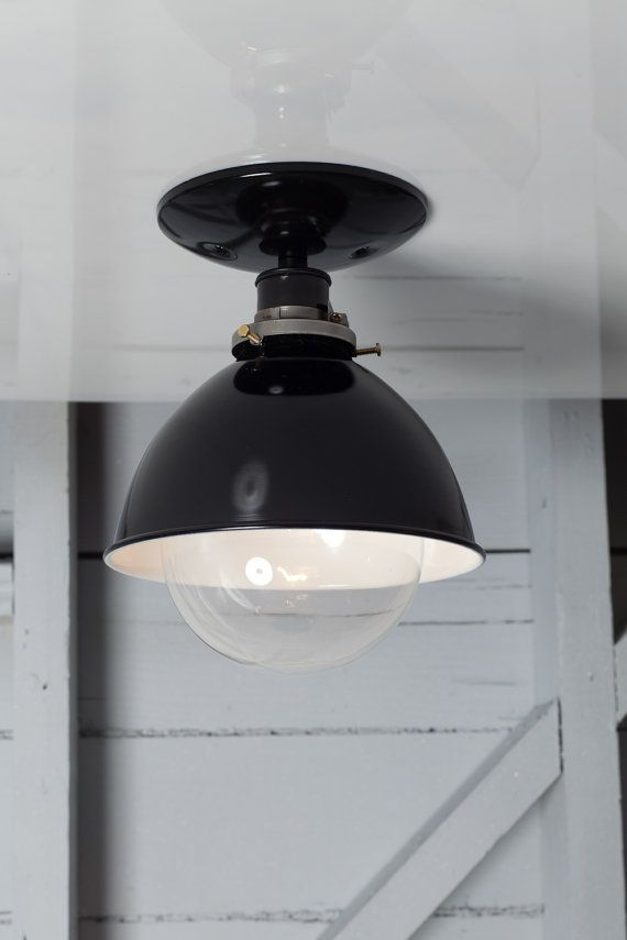 Industrial Ceiling Mount light- Metal Shade Lamp - Semi Flush Mount op Etsy, 90,65 €