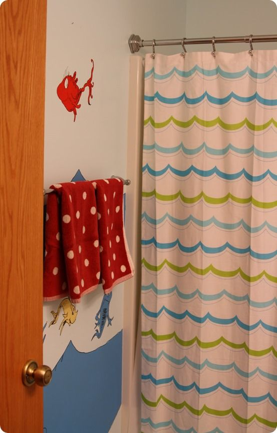 Kids Dr. Seuss Bathroom With Wall Mural {Pottery Barn Kids Inspired} Ella  Would