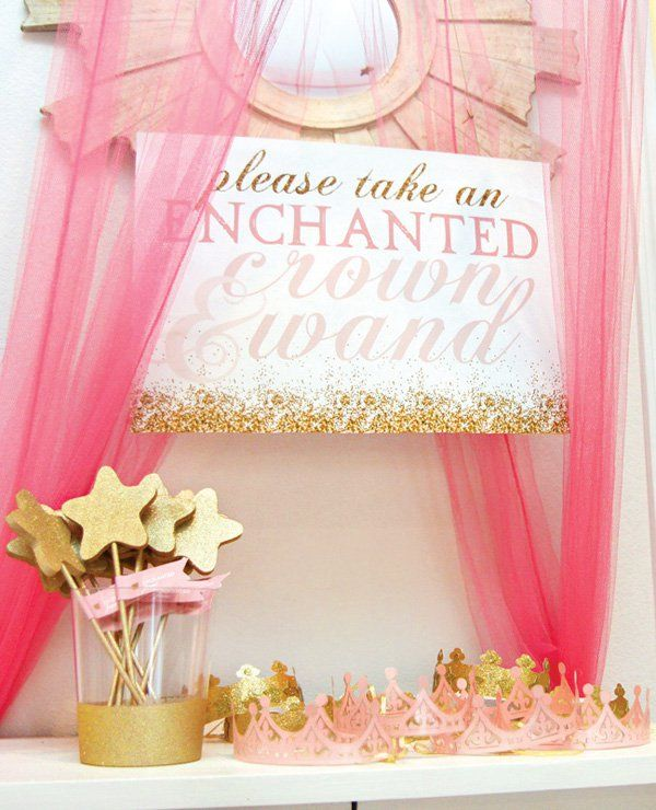 Starry Enchanted Forest Birthday Party {Pink & Gold} // Hostess with the Mostess®