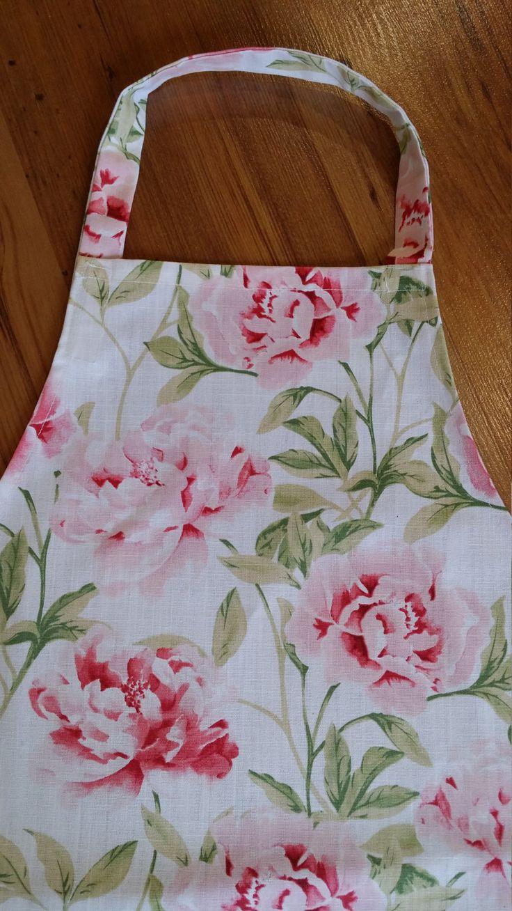 Ladies Pink Floral Apron, Women's Apron, Teenagers Apron, Kitchen Apron, Cooking…