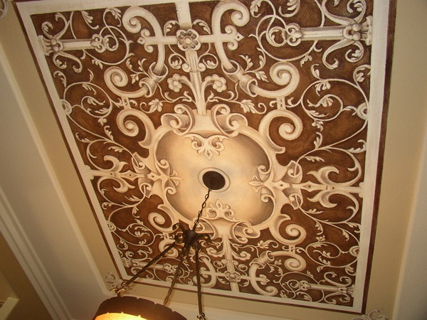 Another beautiful ceiling home decor pinterest trees for Ceiling mural painting techniques