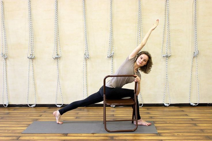 86 best iyengar yoga chair standing poses images on for Chaise yoga