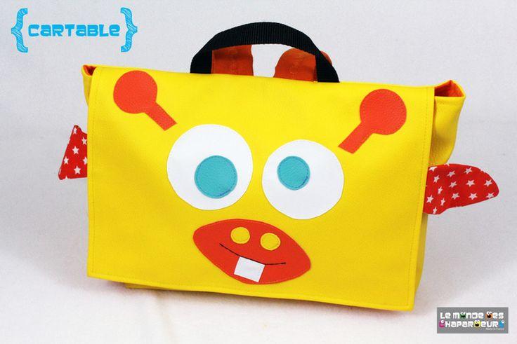 cartable sac à dos maternelle girafe jaune de le monde des chapardeurs sur DaWanda.com