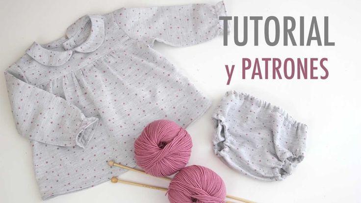 DIY Costura: Conjunto de niña blusa y braguita (patrones gratis)