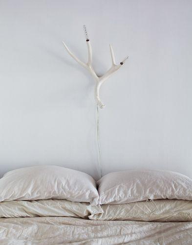 White antler light