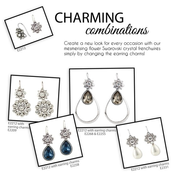 One pair - countless looks simply by changing your earring charms!