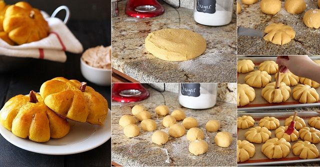 Pumpkin Bread Rolls with Cinnamon Butter Recipe: