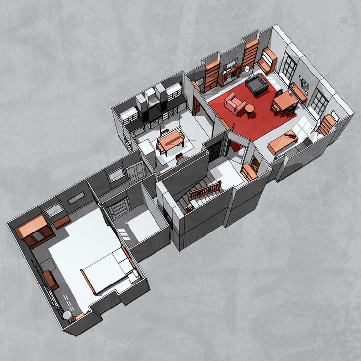 Sherlockology, 221B Baker Street This floor plan looks pretty...