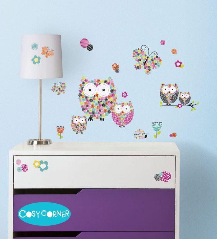 Ήρθε ή Άνοιξη και είναι τέλεια ευκαιρία να ανανεώστε το παιδικό δωμάτιο με τα εντυπωσιακά Πρίσμα Κουκουβάγιες & Λουλούδια Αυτοκόλλητα Τοίχου, γρήγορα και εύκολα! http://goo.gl/nZ11nO