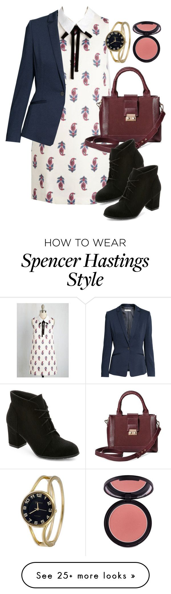 """""""Spencer Hastings inspired outfit with requested dress"""" by liarsstyle on Polyvore featuring Who What Wear, Madden Girl, Geneva, Sigma, date, Work, Semi and mid"""