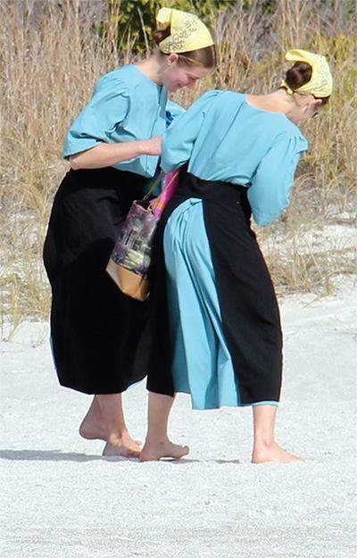 Amish on the Beach