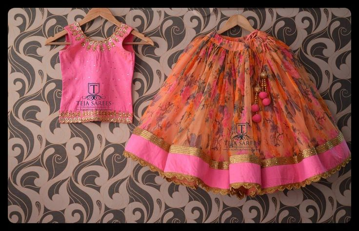 Watch your kids flaunting these unique designer floral lehangas and have fun !! Stay amazed with team Teja