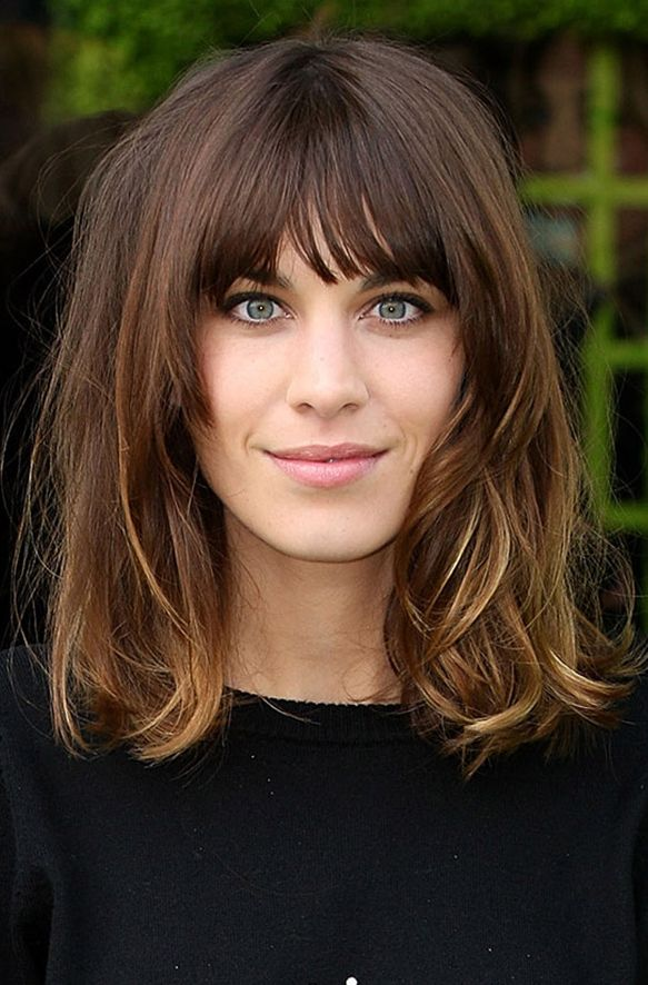 love the fringe and long bob... and color