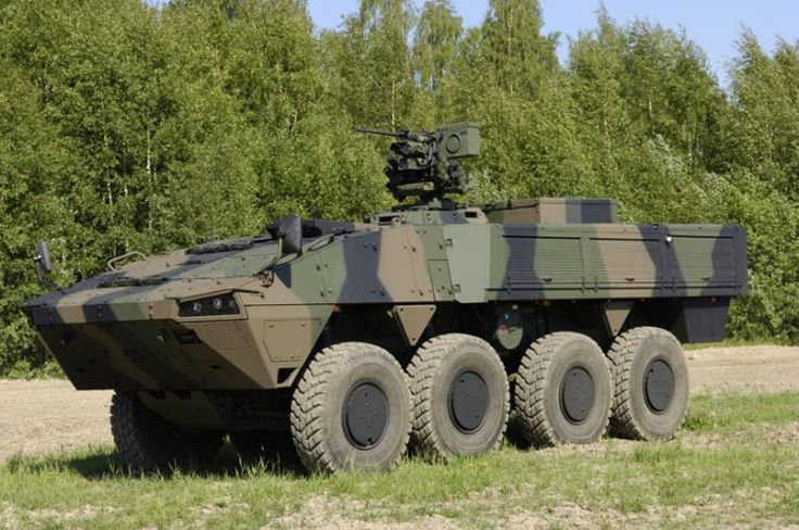 Patria AMV APC version equipped with KONGSBERG PROTECTOR RWS
