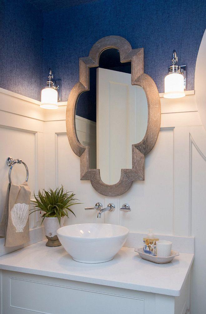"Bathroom Wainscoting Dimensions. Bathroom Wainscoting goes up 5'6"". Bathroom Wainscoting Dimensions is 5'6"". Bathroom Wainscoting Wall. Bathroom Wainscoting Wall Height. Bathroom Wainscoting Height #BathroomWainscotingDimensions #Bathroom #Wainscoting #dimensions #wainscotingheight #wainscottings #bathroomwall Interiors by Courtney Dickey of TS Adams Studio."