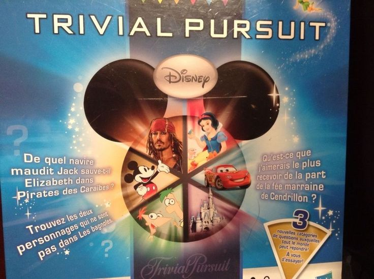 NEW Trivial Pursuit Ultimate Disney Edition Board Game JEU FRANCAIS French NIB #HasbroGames