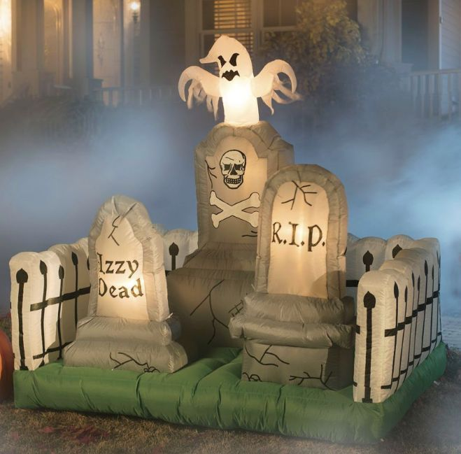 Graveyard Tombstone Ghost Cemetery Inflatable Airblown Halloween Yard Prop Lawn   eBay