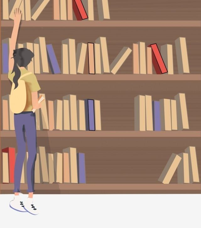 Girl In The Library Book Library Bookshelf Png Transparent Clipart Image And Psd File For Free Download
