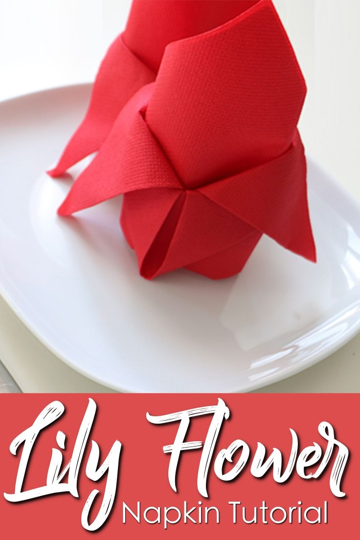 How To Fold A Lily Flower With A Paper Napkin In 1 Minute