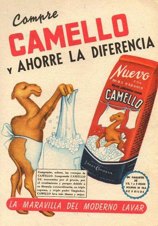 Jabón para lavar ropa CAMELLO, década del 50.