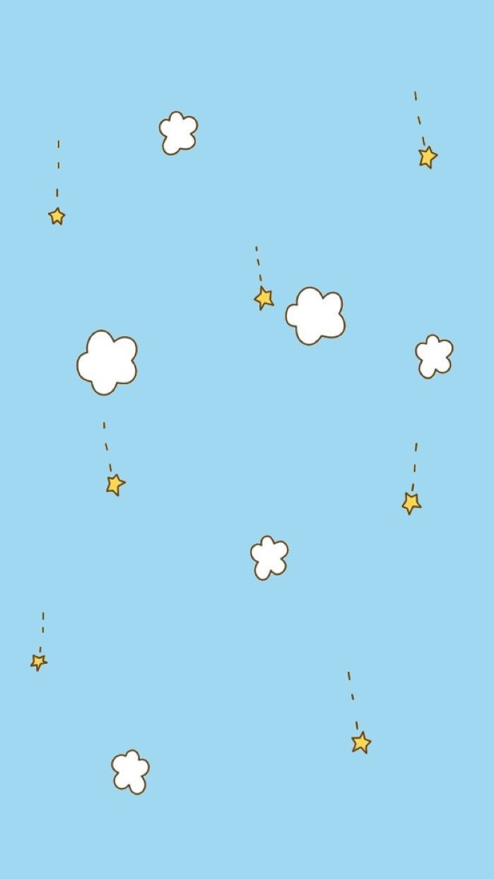 Tumblr Kawaii Pastel Blue Wallpaper