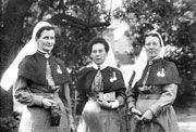 Matron EJ Gould, Sister Penelope Frater and Superintendent Julia Bligh during Boer War