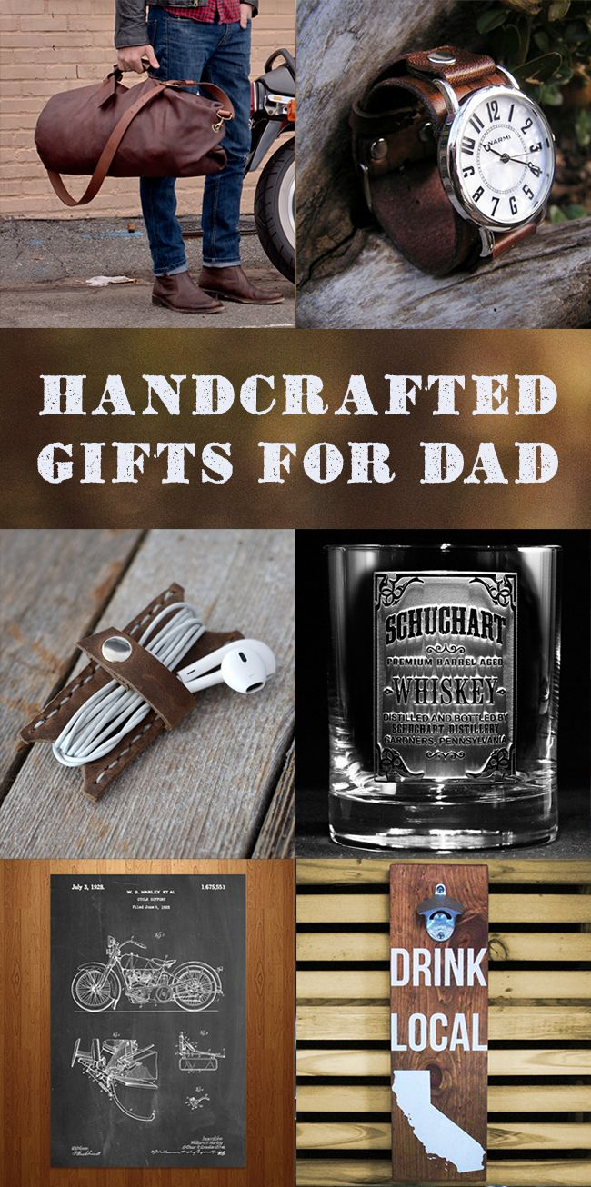 Dad deserves the best.  From a custom bottle opener to a full grain leather duffle, these gifts are sure to please.